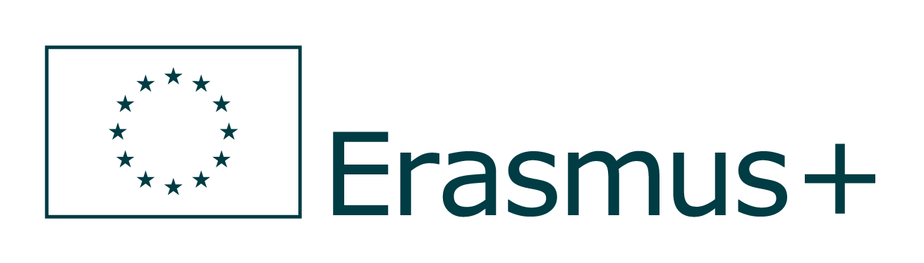 Erasmus+ Logo Achromatyczne